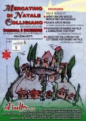 Il programma del Mercatino di Natale Collesalvetti