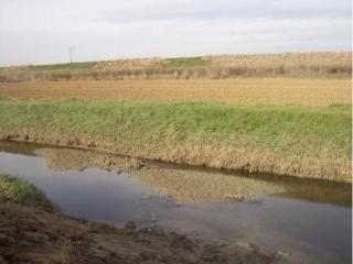 Nella foto del 22 dicembre il fosso è quasi tutto interrato