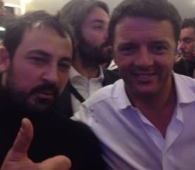 Auteri con Matteo Renzi