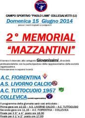 Manifesto 2° Memorial Mazzantini