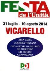 Manifesto Festa de L'Unità Vicarello