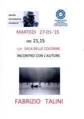 Manifesto mostra Fabrizio Talini Gruppo Fotografico