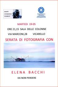 serata con Elena Bacchi