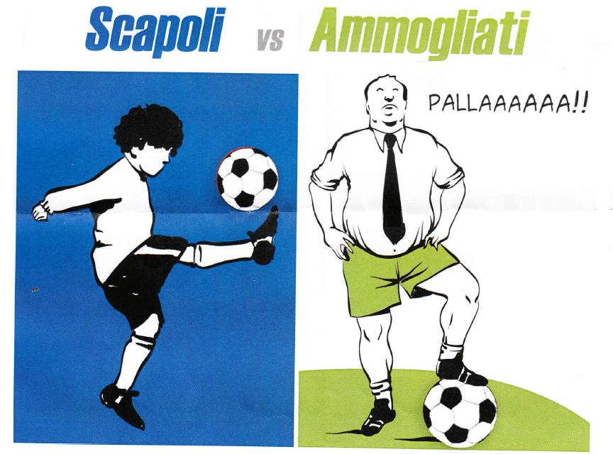 """""""SCAPOLI VS AMMOGLIATI"""". A GUASTICCE IL CALCIO A 7 È AMARCORD"""