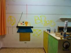 Vandalismo alla scuola di Stagno 2