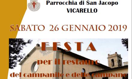 A VICARELLO SARÀ FESTA PER IL RESTAURO DEL CAMPANILE E DELLE CAMPANE
