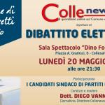 """""""DIBATTITO ELETTORALE"""" DI COLLENEWS CON I CANDIDATI SINDACO ALLA SALA SPETTACOLO DI COLLESALVETTI"""