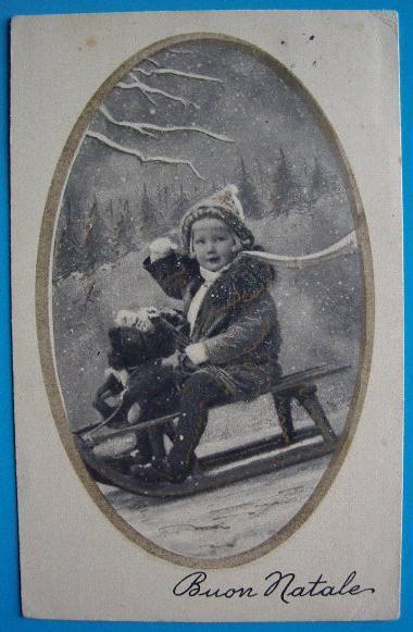 Cartoline Di Natale Anni 30.Buon Natale Cartolina Augurale Anni Trenta Bn026 Collezione Online
