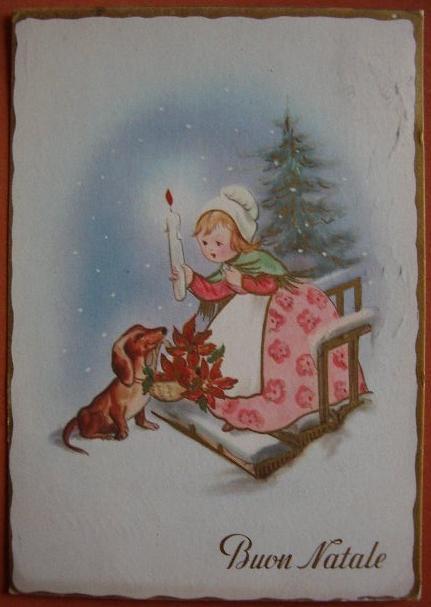 Buon Natale Anni 60.Buon Natale Vecchia Cartolina Augurale Anni 60 Bn04 Collezione Online
