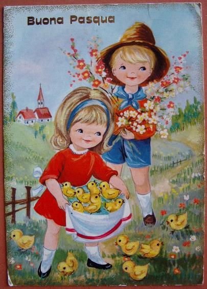 Buona pasqua cartolina augurale vintage bp030 collezione for Cartoline auguri di buona pasqua