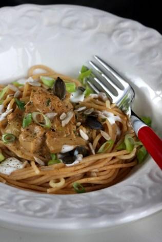 Vollkornspaghetti mit Austernpilzrahm II © Liz Collet