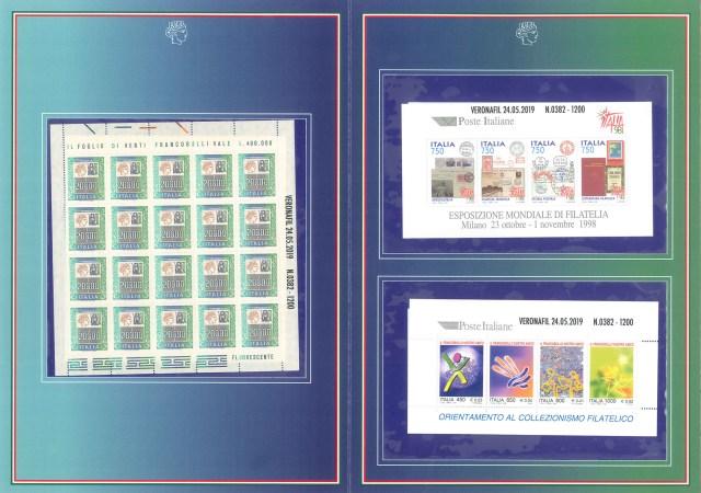 MY TIME S.a.s. - folder francobolli valori nel tempo Veronafil