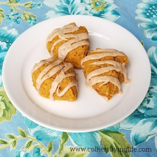 Gluten-free Pumpkin Scones on Williams Sonoma Plate