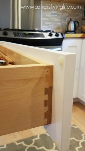 DIY Kitchen Remodel JK Cabinetry dovetail drawer