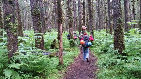 Starting our hike up Saddlebag Glacier Trail