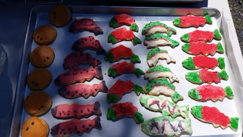 Kids Fishing Day cookies