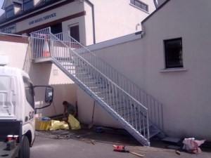 Collins Metal Fabrication Staircase 502 metal Staircase