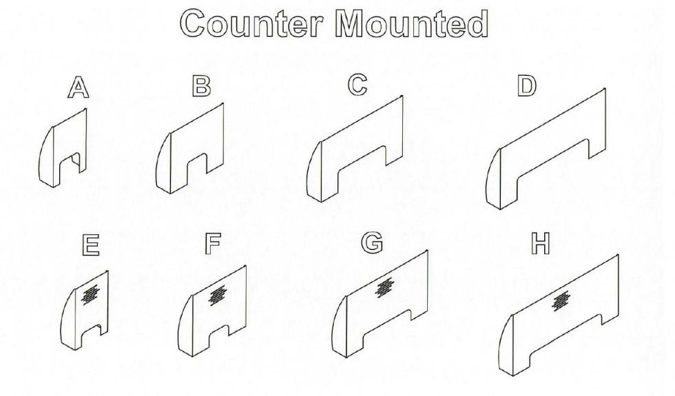 Counter Mounted Sneeze Guards