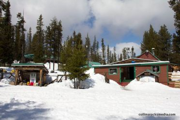 Elk Lake Lodge in the winter