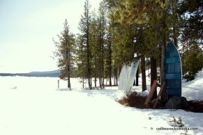 Visiting Elk Lake Lodge on their last day of winter operation.