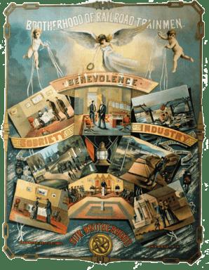 Brotherhood-of-Railroad-Trainmen---Fantastic-Poster--linen-full-trimmed-frame-500px