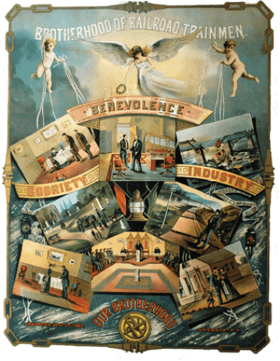 Brotherhood-of-Railroad-Trainmen---Fantastic-Poster--linen-full-trimmed-frame-500px