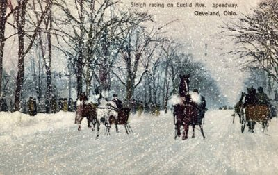 Sleigh_racing_on_Euclid_Ave_Speedway_Cleveland_Ohio c1909 csu