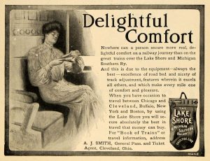 lake shore and michigan southern 1903 woman travelling-period paper