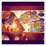Day 16: What You're Reading. The new Rick Riordan book & a map of Hollywood Disney.