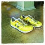 Day 5: Logo.  My awesome neon yellow new kicks!