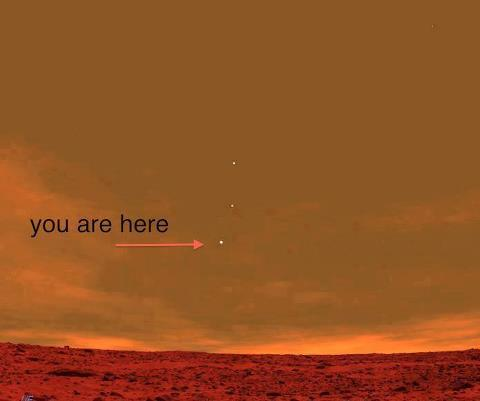 With the naked eye, you can see Mars from Earth. It ...