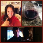 Day 24: 3 Things.  Me, a glass of wine, and Castle.