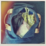 Day 15: Inside Your Bag. In my gym bag: Sneakers, tank & yoga crops. Very exciting, I know.