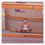 Day 7: Reflection. Back to Pure Barre Cary today to get back in shape. Yup, this pic makes me a tool.