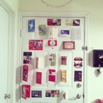 Day 9: Paper. Just realized I never took a picture of our Christmas card display for posterity.