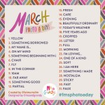 March 2014 Photo-a-Day List