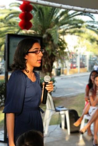 Tania contándonos sobre su experiencia de movilidad en el marco del año nuevo chino.