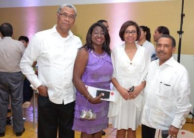 Manuel Matos Diedone, Geralda Diaz, Josefina Vasquez y Cecilio Santana