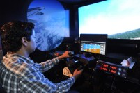 Simulador de aviones de la ASCA.