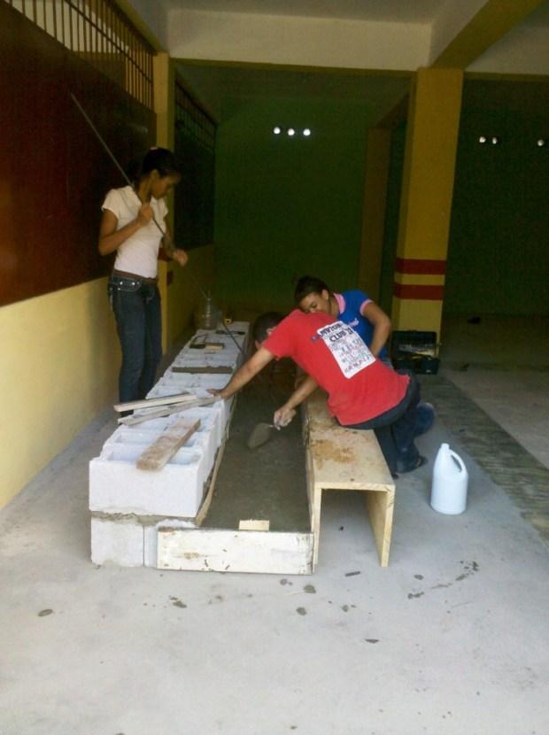 Estudiantes durante las pruebas