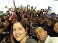 Estudiantes y Docentes INTEC y RUM en Fiebre de Selfie