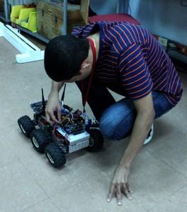 Rover en uno de los ensayos. Las Competencias hands-on se realizan desde 2010. Foto: Montserrat Díaz.