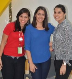 Mariel Ferreira, Scarlet Hernández y Melissa Tapia