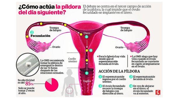 Infografía sobre uso del anticonceptivo oral de emergencia tomada del periódico Correo de España.