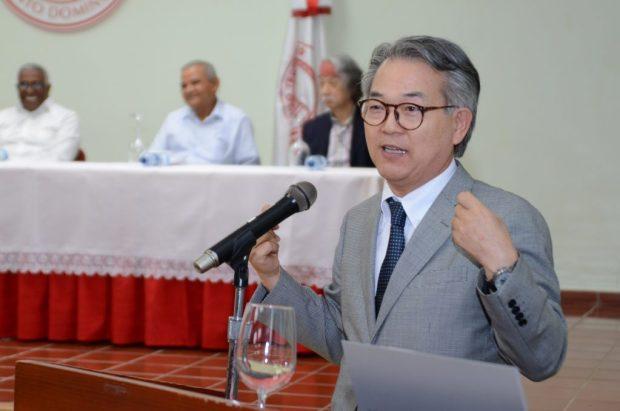 El embajador de Japón en el país Hiroyuki Makiuchi