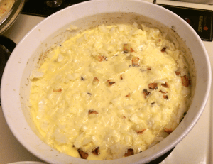 Cream and Egg Mixture