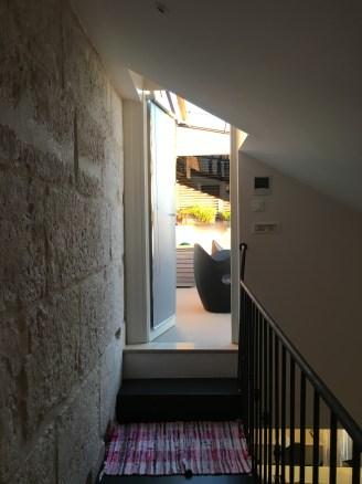 Tür zur Dachterrasse