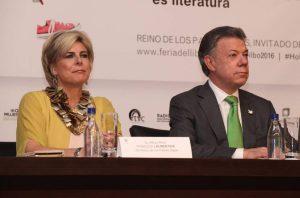 Prinses Leontien en President Santos openen boekenbeurs Bogota