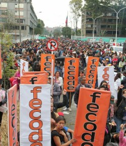 Leraren in Bogotá in staking vanwege beloftes regering die niet nagekomen zijn