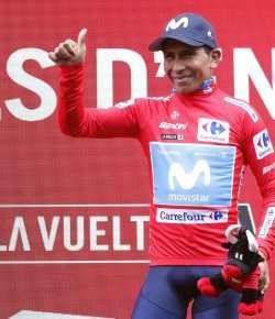 Nairo Quintana nieuwe leider Ronde van Spanje